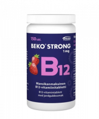 BEKO STRONG B12 1MG MANSIKKA 150 PURUTABL