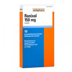 RANIXAL 150 mg tabl, kalvopääll 10 fol