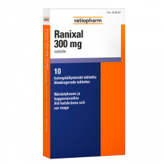 RANIXAL 300 mg tabl, kalvopääll 10 fol